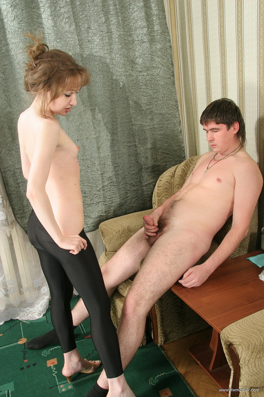 Femdom sex with bound males