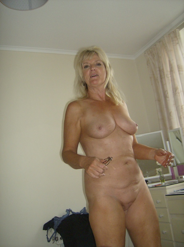 Blonde Mature Caught Nude At Home By Husband Camera-3848