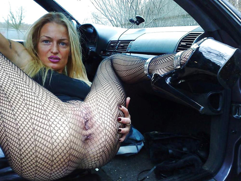 Pantyhosed mature fucked in cars